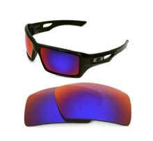 NEW POLARIZED CUSTOM LIGHT +RED LENS FOR OAKLEY EYE PATCH 2 SUNGLASSES